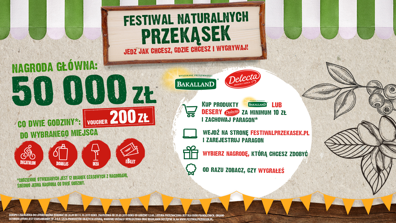 Festiwal Naturalnych Przekąsek z Bakalland i Delectą